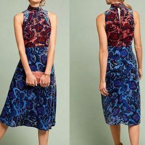 NWT ANTHROPOLOGIE Rumie Two-tone Velvet Dress  8